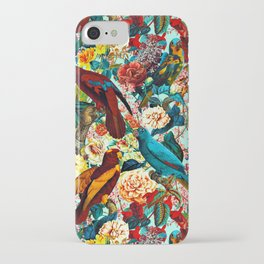 FLORAL AND BIRDS XV iPhone Case