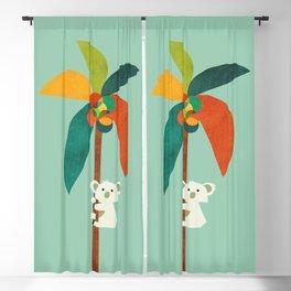 Koala on Coconut Tree Blackout Curtain