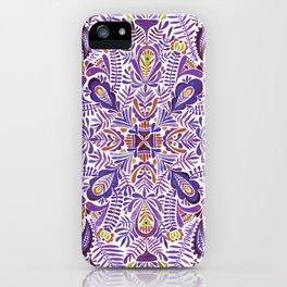 Gloomy purple mandala pattern iPhone Case