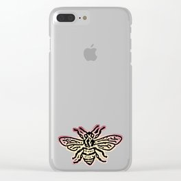 Save The Bees, Linocut - Sales Donated To NAPPC Clear iPhone Case
