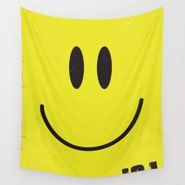 Acid house '91 vintage smiley face Wall Tapestry