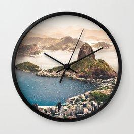 Rio de Janeiro Brazil Wall Clock