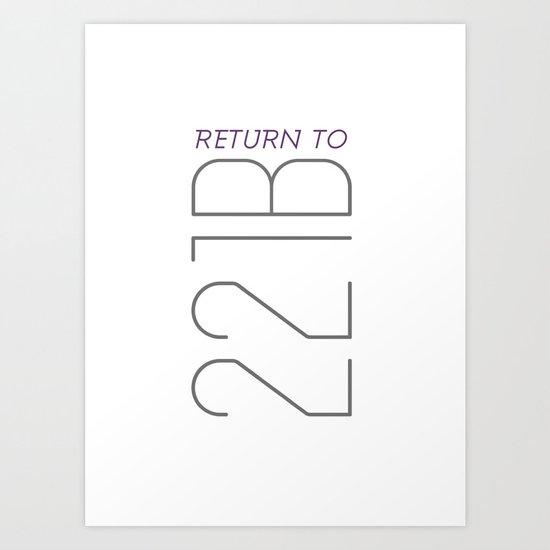 Return to 221B Art Print