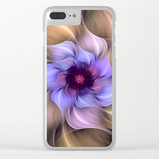 Colorful Magic Flower Clear iPhone Case