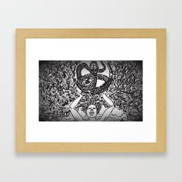 Hydra Mountain Framed Art Print