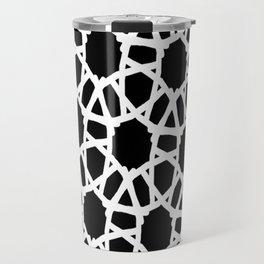 Blk white Crochet Travel Mug