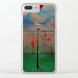 Futuristic Landscape 3D Modeling Sci-Fi Art Clear iPhone Case