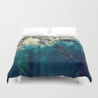 returns Duvet Covers featuring Diminishing Returns by Faded  Photos