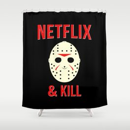 Netflix & Kill - Jason Vorhees Friday The 13th Shower Curtain