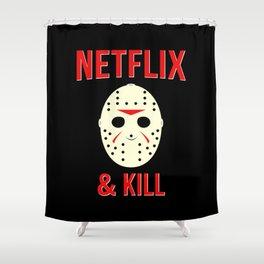 Netflix & Kill - Jason Vorhees Friday The 13th Shower Curtain