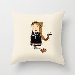 Cancer Girl  Throw Pillow
