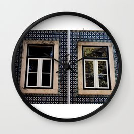 Lisbon Windows Wall Clock