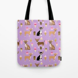 Chihuahua ice cream sweet treat summer food dog breed dogs pets Tote Bag