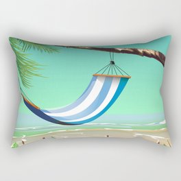 'Pure Paradise' Jamaica travel poster Rectangular Pillow