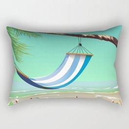 'Pure Paradise' Jamaica travel poster Rectangular Pillow