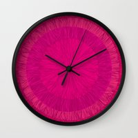 pulp Wall Clocks featuring Pulp Passion by Anchobee