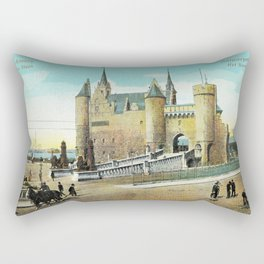 Antwerpen Antwerp Steen medieval castle Rectangular Pillow