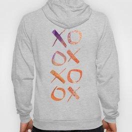 xoxo Watercolor Purple Orange Hoody