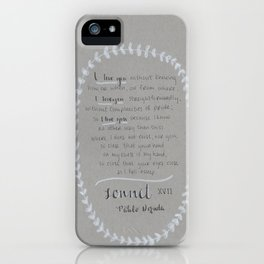 NERUDA - Sonnet 17 iPhone Case