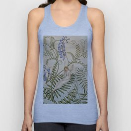 """""""Fairy Resting Among Flowers"""" by Amelia Jane Murray Unisex Tank Top"""
