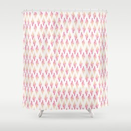 all over ice dream Shower Curtain