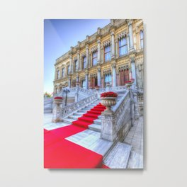 Ciragan Palace Istanbul Red Carpet Metal Print
