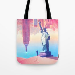 Statue of Liberty in the desert by GEN Z Tote Bag