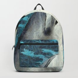 Happy Dolphin Art Backpack