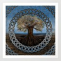 Tree of life -Yggdrasil drawing by k9printart