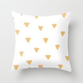Triangle Pattern - Gold Triangles Throw Pillow