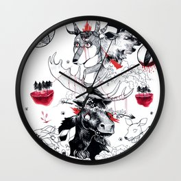 Hunting season Wall Clock