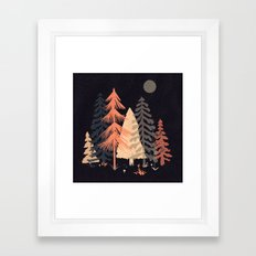 A Spot in the Wood... Framed Art Print