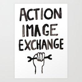 Action Image Exchange Art Print