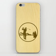 golfer iPhone & iPod Skin