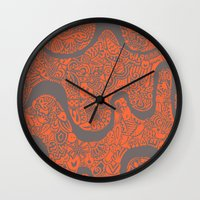 safari Wall Clocks featuring Safari by datavis/pwowk