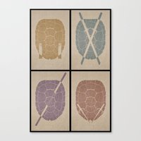 tmnt Canvas Prints featuring TMNT by s2lart