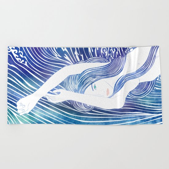 Water Nymph LVIII Beach Towel