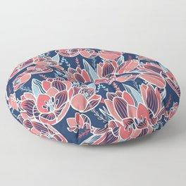 Papercut tulips Floor Pillow