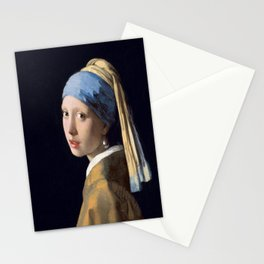 Johannes Vermeer's Girl With a Pearl Earring Stationery Cards