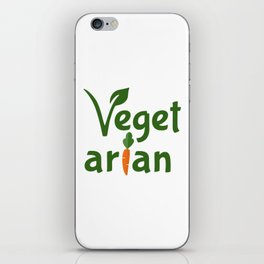 Vegetarian iPhone Skin