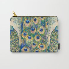 Blue Peacocks Carry-All Pouch