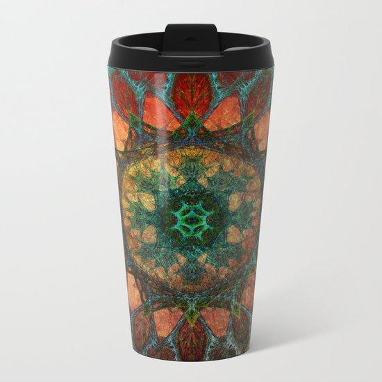 Sun Mandala Metal Travel Mug