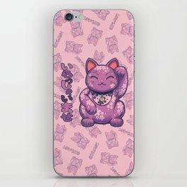 Hanami Maneki Neko: Yuu (Gentle) iPhone Skin