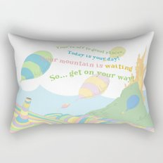 so.. Get on your way! Oh the places you'll go  Rectangular Pillow