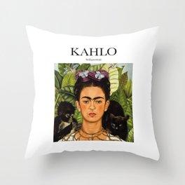Kahlo - Self-portrait Throw Pillow