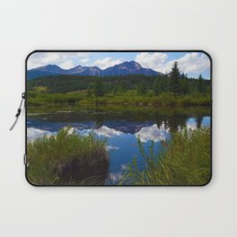 Pyramid Mountain as seen from Cottonwood Slough in Jasper National Park, Canada Laptop Sleeve