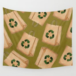 Reduce Reuse Recycle Wall Tapestry