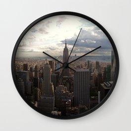 New York Skyline 1 Wall Clock
