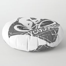 Bicycle Addict Cycologist Cyclist Floor Pillow