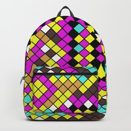 Mosaic X - Abstract, tiled, mosaic, geometric pattern Backpack
